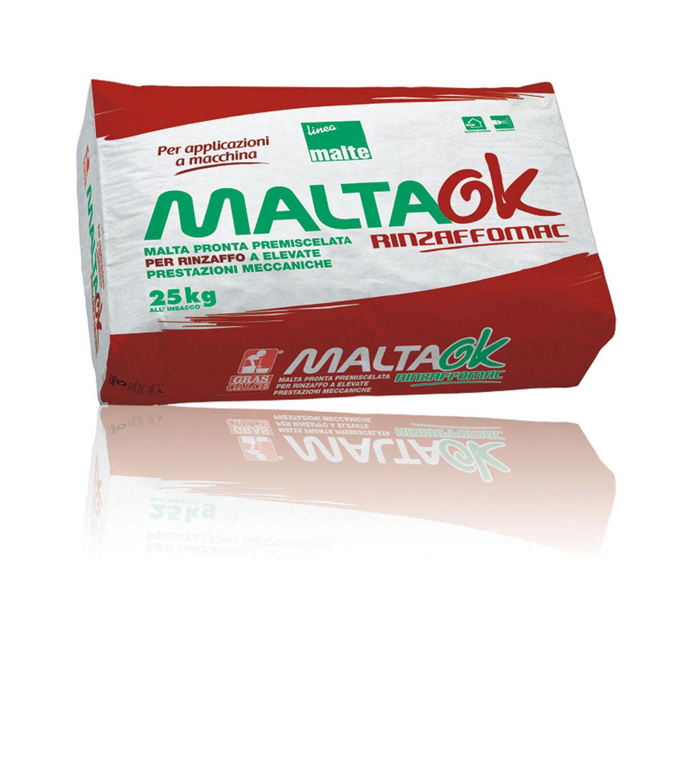 Maltaok malta da rinzaffo applicazione a macchina gras for Gras calce malta bastarda